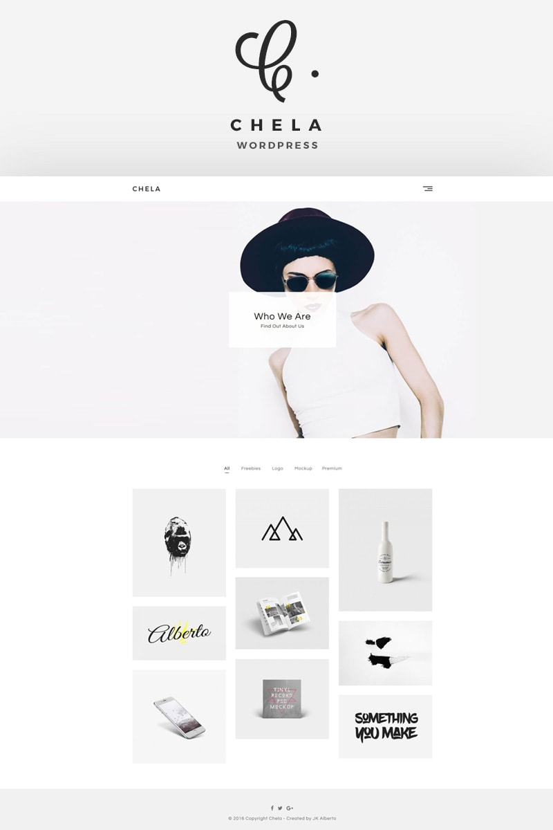 Chela - A Minimal Agency WordPress Theme Big Screenshot