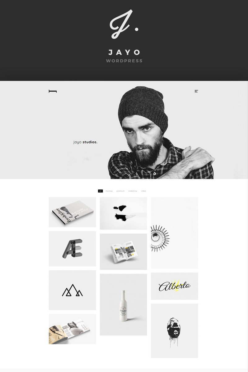 Jayo - A Freelancers & Agencies WordPress Theme Big Screenshot