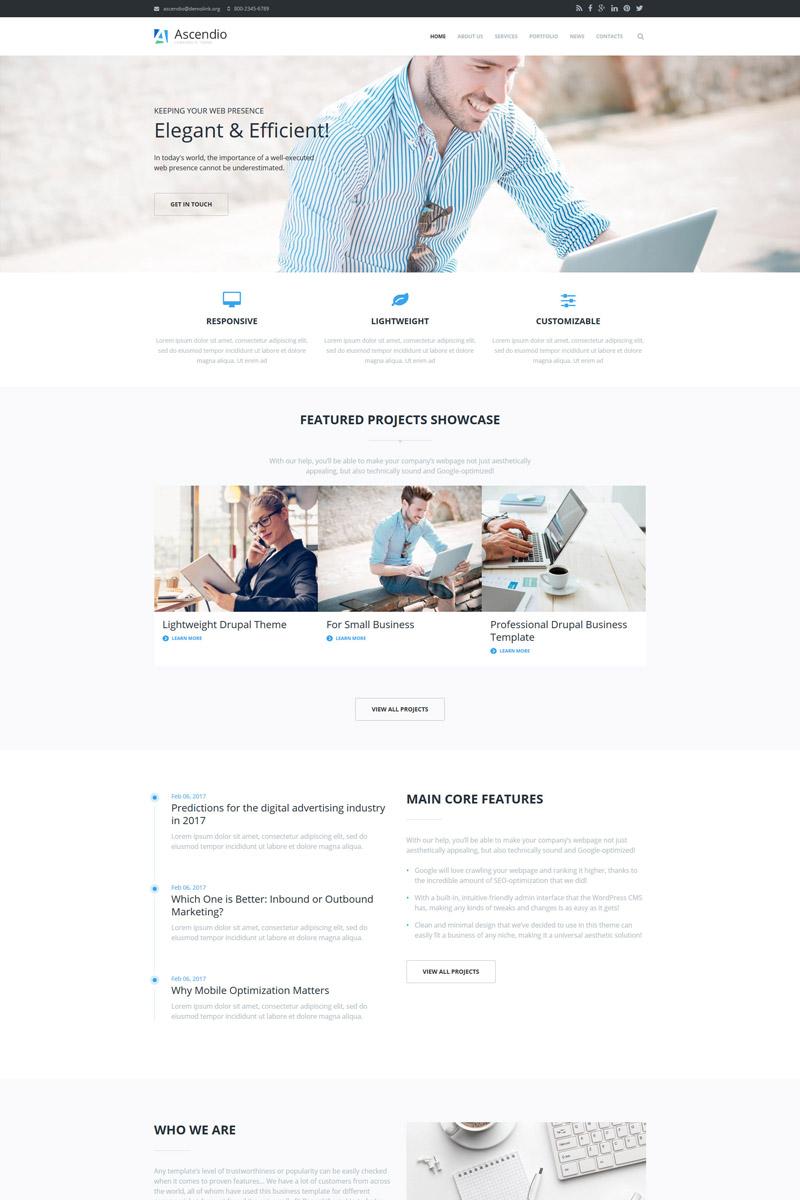 Ascendio - Business & Corporate Drupal Template Big Screenshot
