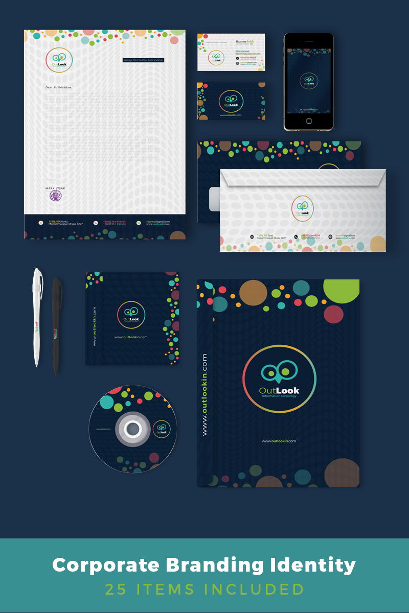 Outlook Corporate Branding Identity Corporate Identity Template Big Screenshot