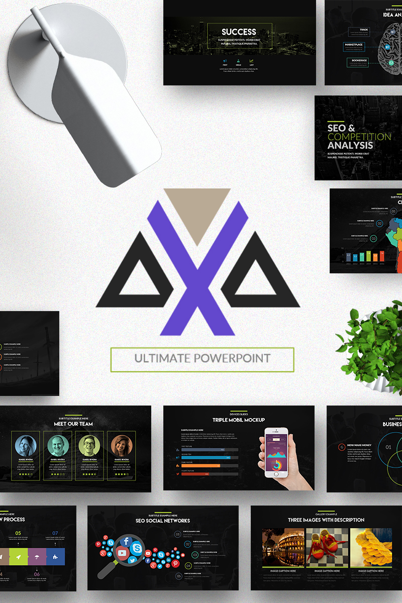 Axa - Powerpoint Presentation Template Big Screenshot