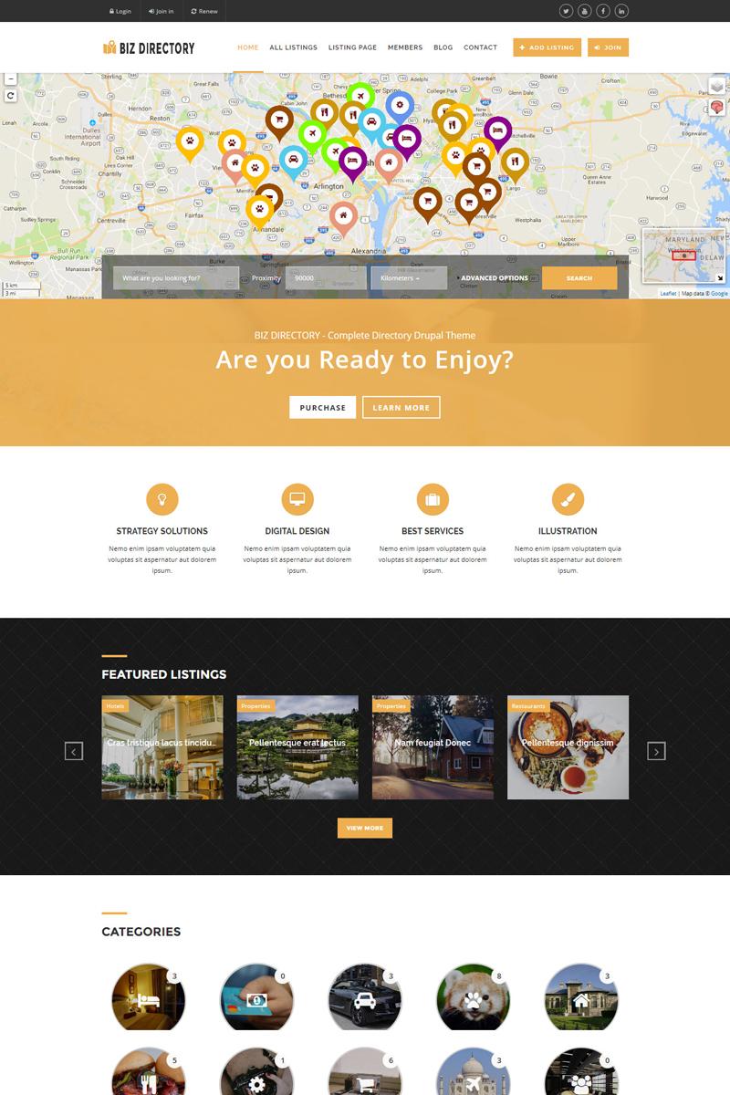 Responsive Drupal Vorlage für Business Services Großer Screenshot