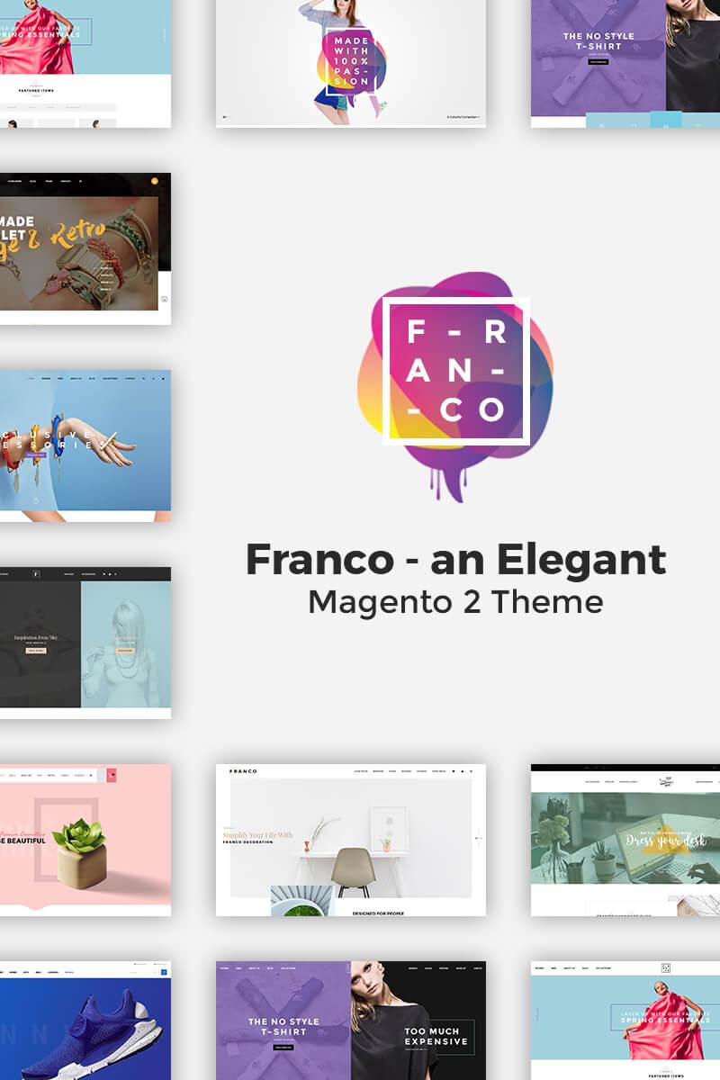 Thème Magento  pour boutique de mode Grande capture d'écran