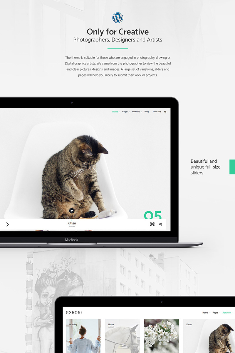 Spacer - Photography Portfolio WordPress Theme Big Screenshot