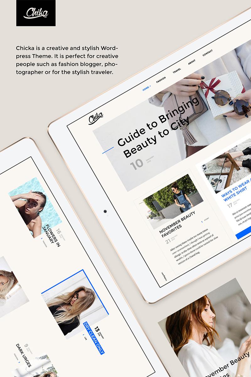 Адаптивный WordPress шаблон №64632 на тему блог о моде Большой скриншот