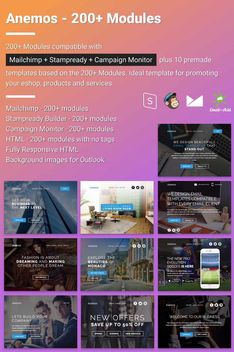Responsivt Newsletter-mall för Elektronik En stor skärmdump