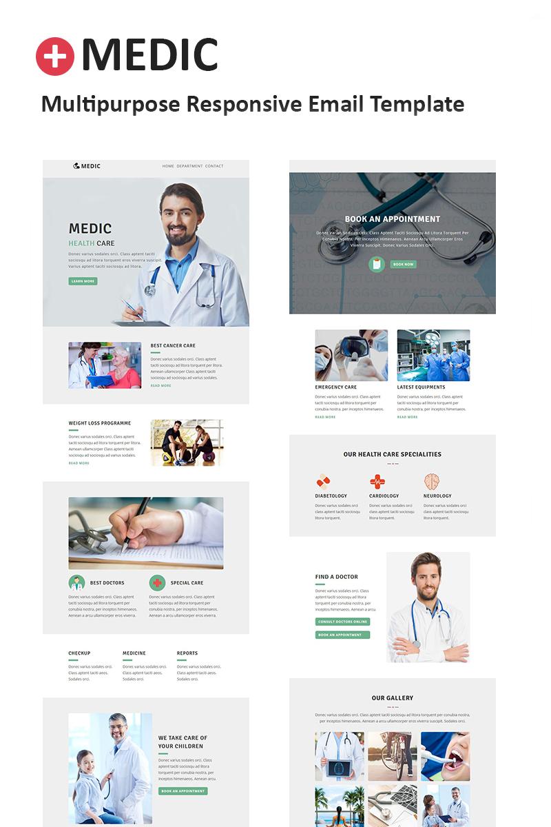 Template de Newsletter Flexível para Sites de Medico №64539 Screenshot Grade