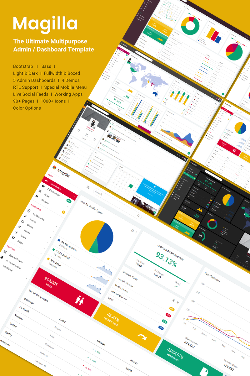 Magilla - The Ultimate Multipurpose Admin Template Big Screenshot