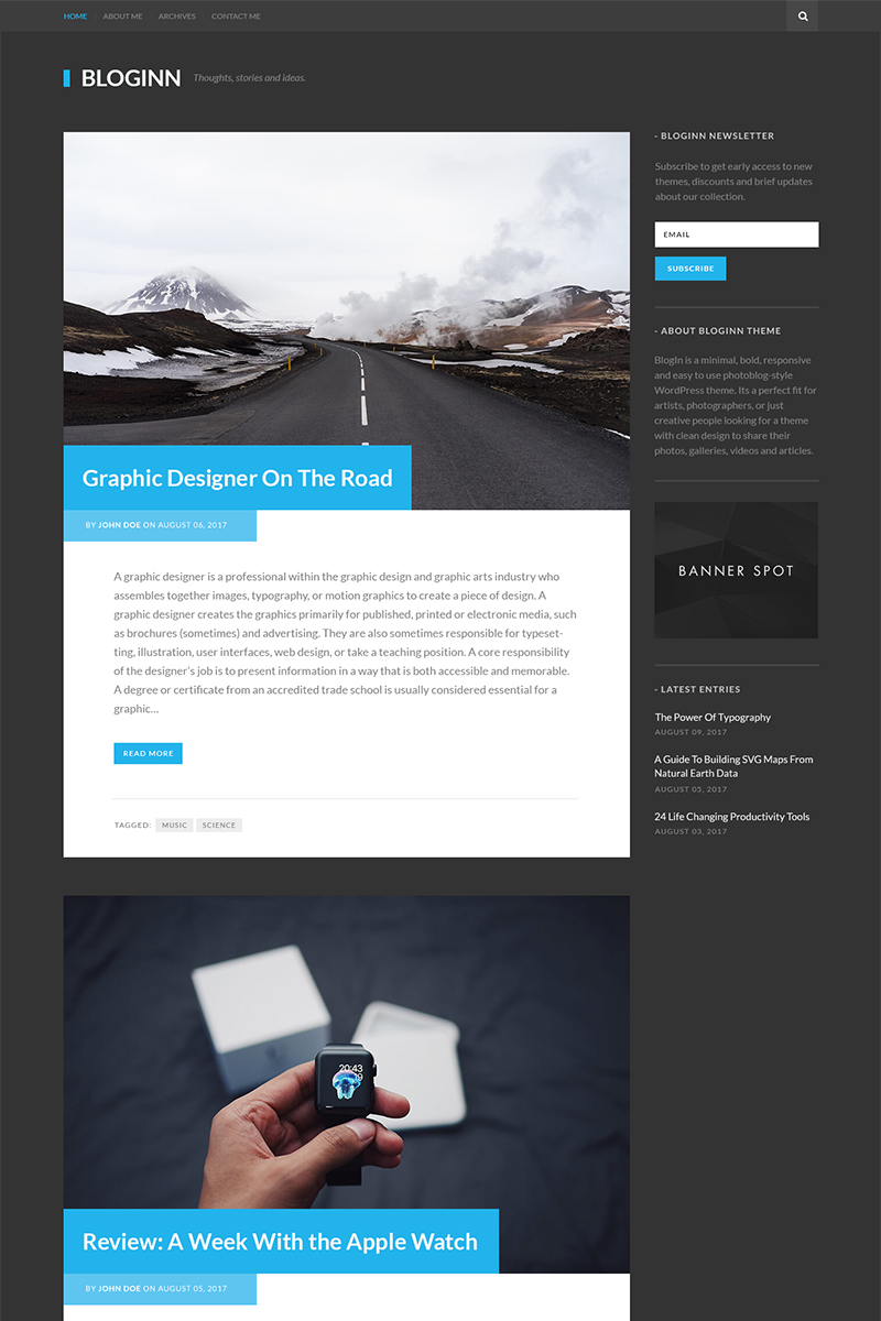 BlogInn - Bold Theme For WordPress WordPress Theme Big Screenshot